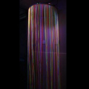 UV Reactive Circular Fibre Optic Curtain