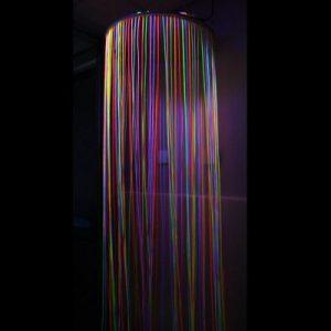 UV Reactive Circular Fibre Optic Curtain