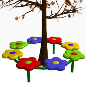 8 Person Flower Tree Bench