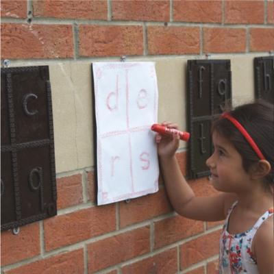 Alphabet Rubbing Plaques